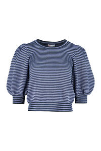 Striped knit lurex top, Crew neck sweaters Red Valentino woman