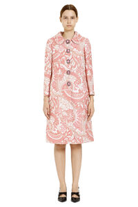 Lamé jacquard coat with embellished buttons, Knee Lenght Coats Dolce & Gabbana woman
