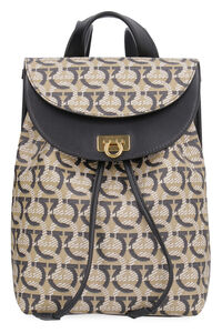 Gancini printed technical canvas backpack, Backpack Salvatore Ferragamo woman