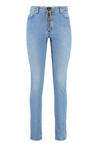5-pocket slim fit jeans, Skinny Leg Jeans Moschino woman