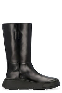 Leather boots, Biker boots Prada man