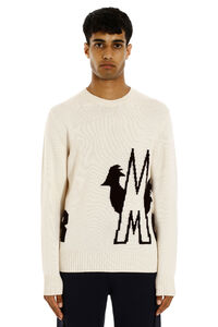 Tricot-knit wool sweater, Crew necks sweaters Moncler man