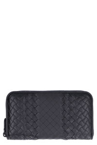 Intrecciato Imperatore zip around wallet, Wallets Bottega Veneta man