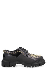 Studded leather lace-up shoes, Lace-ups Dolce & Gabbana woman