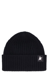Damian ribbed knit beanie, Hats Golden Goose woman