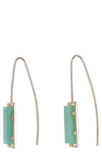 Green stone earrings, Earrings Aliita woman