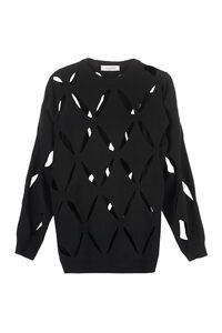 Openwork-knit pullover, Crew neck sweaters Valentino woman