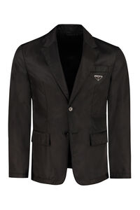 Single-breasted two button jacket, Single breasted blazers Prada man