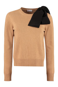 Bow detail crew-neck sweater, Crew neck sweaters Red Valentino woman
