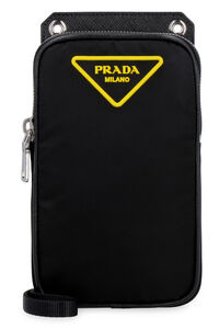 Nylon mobile phone pouch, Messenger bags Prada man