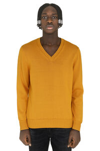 Cotton V-neck pullover, V-necks Drumohr man