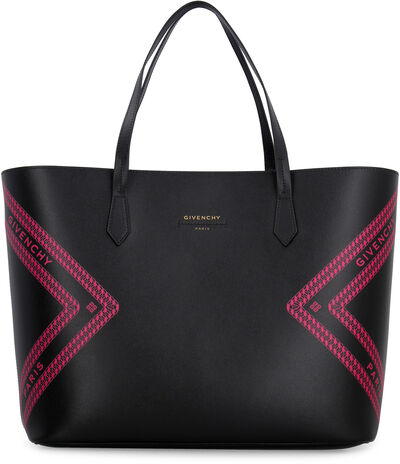 Wing leather tote