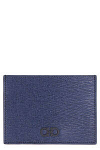 Pebbled leather card holder, Wallets Salvatore Ferragamo man
