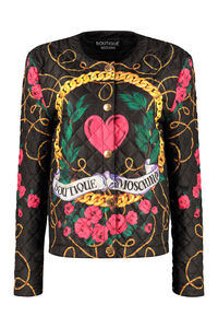 Quilted techno fabric jacket, Raincoats And Windbreaker Boutique Moschino woman