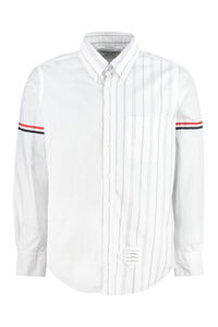 Button-down collar cotton shirt, Striped Shirts Thom Browne man