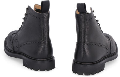 Mc Farlane 2 pebbled leather boots with brogues