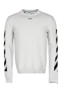 Cotton blend crew-neck sweater, Crew necks sweaters Off-White man