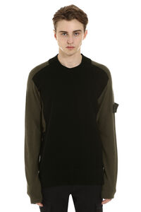 Crew-neck wool sweater, Crew necks sweaters Stone Island man