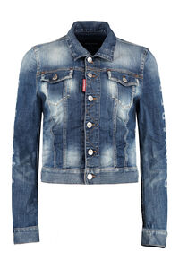 Logo detail denim jacket, Denim Jackets Dsquared2 woman