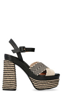 Analia jute wedge espadrilles, High Heels sandals Castaner woman