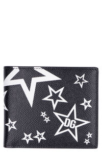 Printed leather wallet, Wallets Dolce & Gabbana man