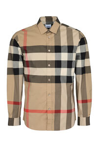 Check print cotton shirt, Checked Shirts Burberry man