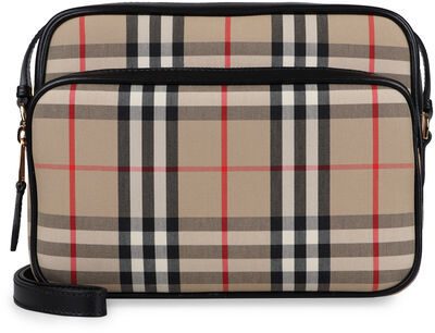 Camera bag in canvas check
