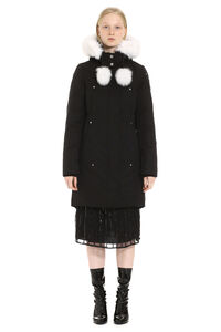 Stirling padded parka with fur hood, Down Jackets Moose Knuckles woman
