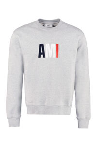 Cotton crew-neck sweatshirt, Sweatshirts AMI PARIS man