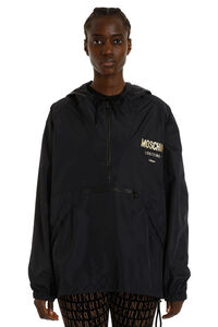 Hooded windbreaker, Raincoats And Windbreaker Moschino woman