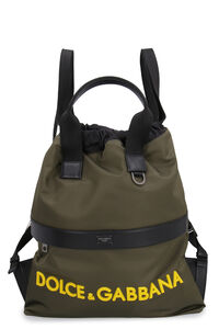 Nylon backpack with leather details, Backpack Dolce & Gabbana man