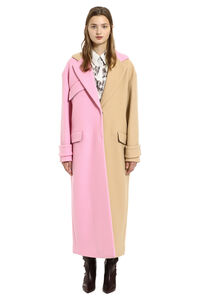 Long wool blend coat, Long Lenght Coats MSGM woman