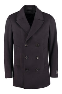 Drop 8 double-breasted wool coat, Peacoats Z Zegna man