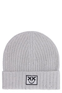 Terra knitted beanie, Hats Pinko woman