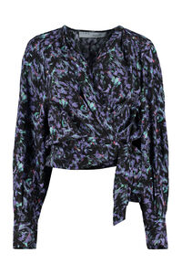Printed wrap-blouse, Blouses Iro woman