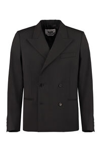 Double-breasted virgin wool jacket, Double breasted blazers MSGM man