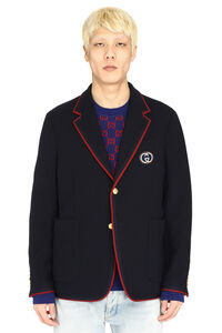 Palma wool-cotton blend blazer, Single breasted blazers Gucci man