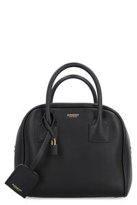 Cube leather boston bag, Top handle Burberry woman