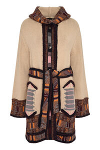 Hooded knit maxi-coat, Knee Lenght Coats Etro woman