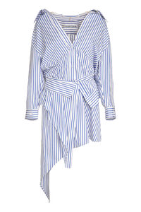 Cotton asymmetric shirtdress, Mini dresses Alexander Wang woman