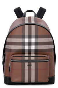 Leather and canvas backpack, Backpack Burberry man