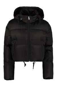 Hooded short down jacket, Down Jackets Prada woman