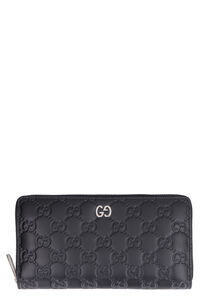 GG print leather ziparound wallet, Wallets Gucci woman