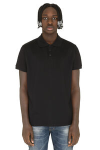 Short-sleeved cotton pique polo shirt, Short sleeve polo shirts Saint Laurent man