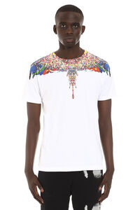 T-shirt in cotone con stampa, T-shirt manica corta Marcelo Burlon County of Milan man