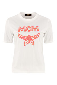Logo print cotton T-shirt, T-shirts MCM woman