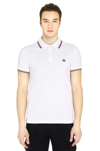 Cotton-piqué polo shirt, Short sleeve polo shirts Moncler man