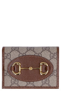 Gucci 1955 Horsebit leather card holder, Wallets Gucci woman