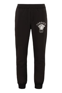 Cotton track-pants, Track Pants Versace man
