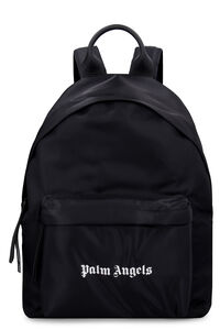 Logo print nylon backpack, Backpack Palm Angels man